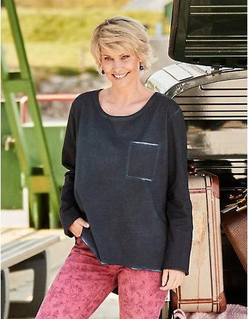 Deerberg Sweatshirt Emmelie marine-washed