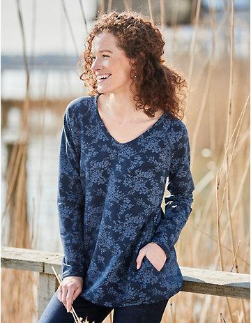 Deerberg Sweat-Shirt Laimute marine-bedruckt