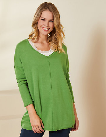 Deerberg Pullover Svanja grasgrün