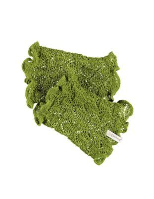 Deerberg Ajourstrick-Armstulpen Heti grasgrün