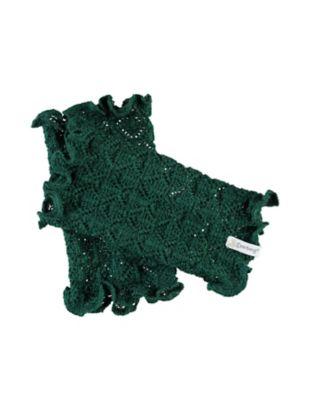 Deerberg Ajourstrick-Armstulpen Heti zederngrün