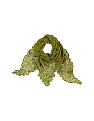 Deerberg Ajourstrick-Dreiecktuch Amrit grasgrün