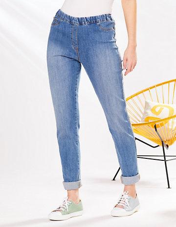 Deerberg Slim-Fit-Jeans Tammy Bio blue-used