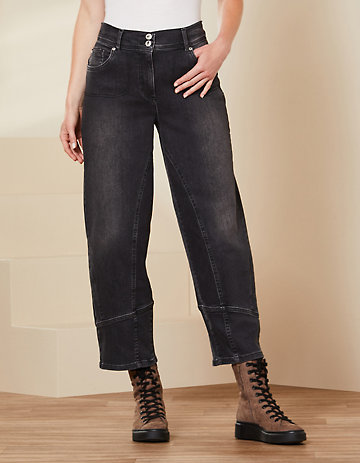 Deerberg Relaxed-Fit-Jeans Eve Bio black-denim