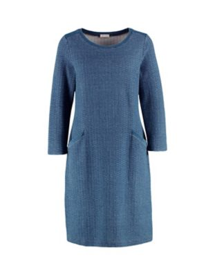 Deerberg Sweat-Kleid Virgilia blau-washed