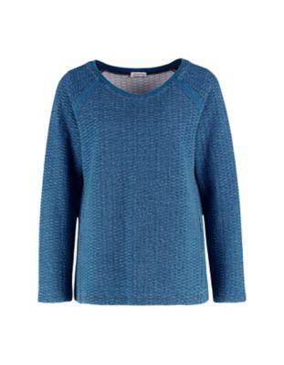 Deerberg Sweatshirt Rosaleen blau-washed