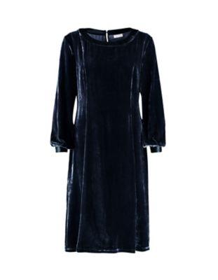 Deerberg Pannesamt-Kleid Lucinde tiefgrau