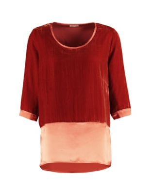 Deerberg Pannesamt-Shirt Nandine kupfer