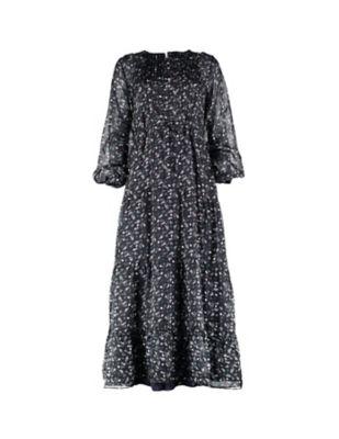 Deerberg Seiden-Kleid Tabatha anthrazit