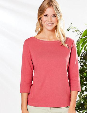 Deerberg Jersey-Shirt Geske nelkenrot
