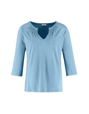 Deerberg Jersey-Shirt Gerta balticblau