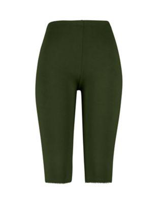 Deerberg Jersey-Capri-Leggings Cassy tannengrün