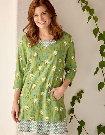 Deerberg Jersey-Tunika Malve salatgrün