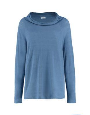 Deerberg Leinenjersey-Shirt Line balticblau