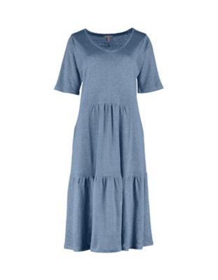 Deerberg Leinenjersey-Kleid Coretta balticblau