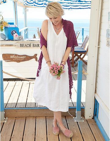Deerberg Leinen-Kleid Ainoa weiß