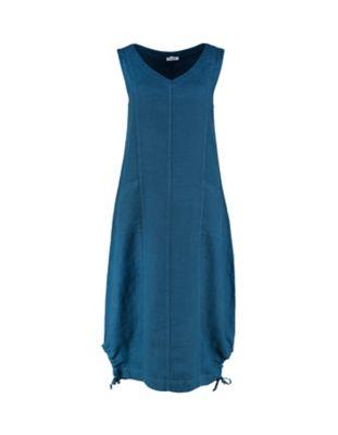 Deerberg Leinen-Kleid Ainoa korsarenblau