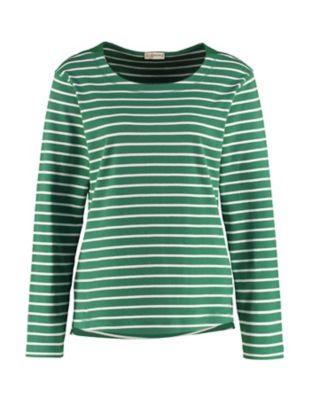 Deerberg Sweat-Shirt Telsa palmgrün-cremeweiß