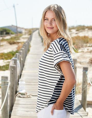 Deerberg Sweat-Shirt Wendle cremeweiß-marine