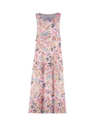 Deerberg Kleid Edith rosa-geblümt