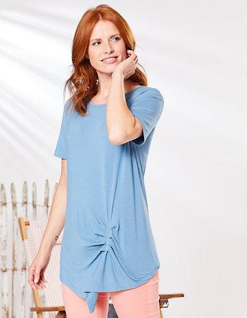 Deerberg Shirt Turid balticblau