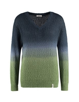 Deerberg Pullover Austra indigo-salatgrün