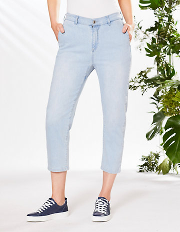 Deerberg Relaxed-Fit-Jeans Silke Bio hell-washed