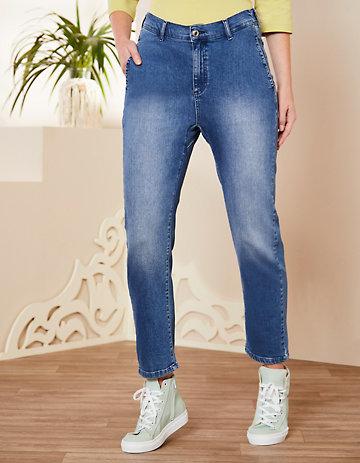 Deerberg Relaxed-Fit-Jeans Silke Bio blue-used