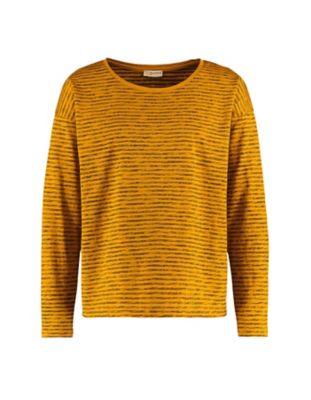 Deerberg Jersey-Shirt Sixta dunkelmango-gestreift