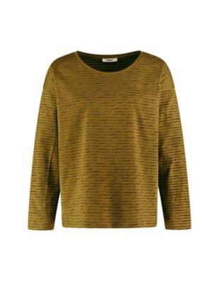 Deerberg Jersey-Shirt Sixta heugrün-gestreift