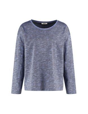 Deerberg Jersey-Shirt Sixta nebelblau-gesteift