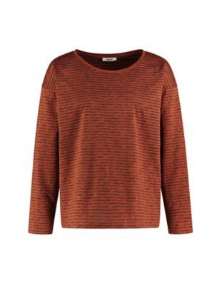 Deerberg Jersey-Shirt Sixta tonerde-gestreift