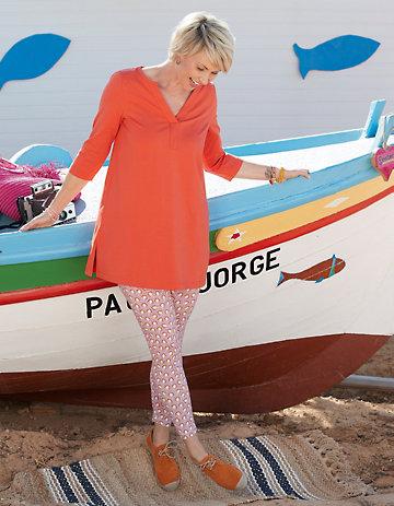 Deerberg Jersey-Leggings Malwine pastellviolett
