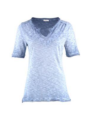 Deerberg Jersey-Shirt Florianne balticblau