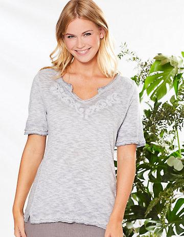 Deerberg Jersey-Shirt Florianne perlgrau