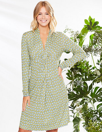 Deerberg Jersey-Kleid Isabe avocadogrün