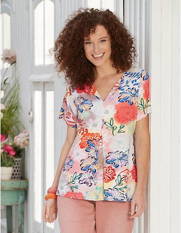 Deerberg Jersey-Shirt Tatjana bunt