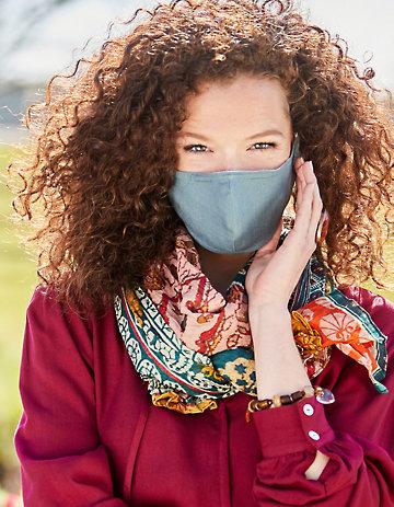 Deerberg mit Nasenbügel Leinen 4er Pack Nase-Mund-Maske diverse