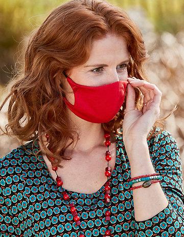 Jersey 4er Pack Nase-Mund-Maske rot