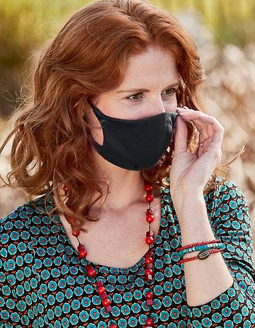 Jersey 4er Pack Nase-Mund-Maske schwarz