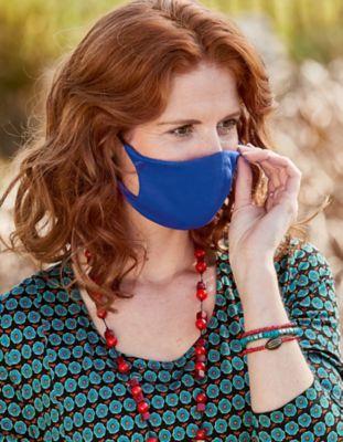 Jersey 4er Pack Nase-Mund-Maske blau