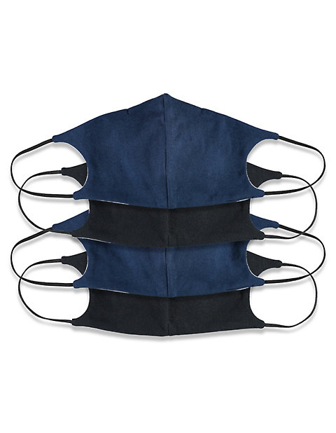 mit Nasenbügel Jersey 4er Pack Nase-Mund-Maske