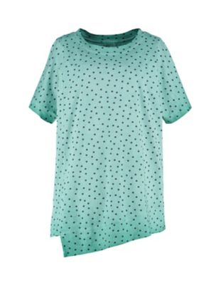 Deerberg Jersey-Shirt Kimmi smaragdgrün-gepunktet
