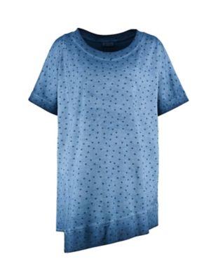Deerberg Jersey-Shirt Kimmi indigo-gepunktet