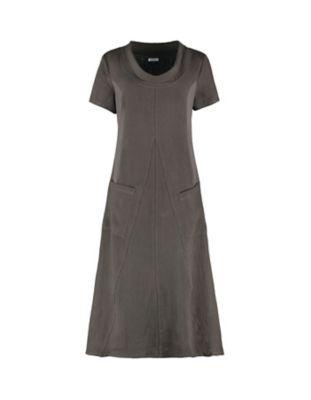 Deerberg Leinen-Kleid Inari asphalt