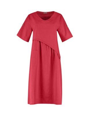 Deerberg Leinen-Kleid Rabna nelkenrot