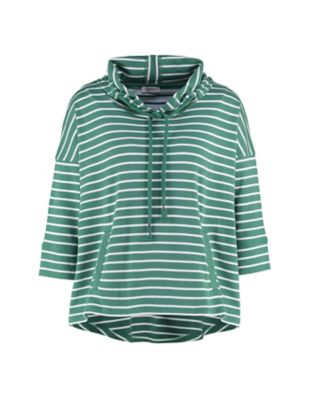 Deerberg Sweat-Kapuzenshirt Coro palmgrün-cremeweiß