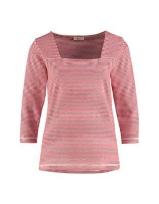 Deerberg Jersey-Shirt Agna rot-cremeweiß