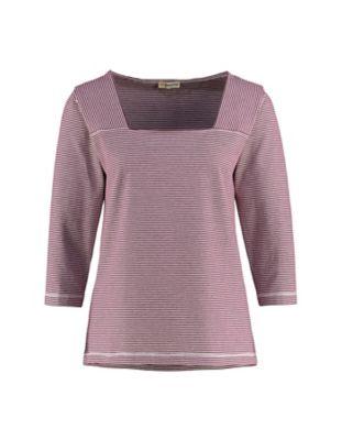 Deerberg Jersey-Shirt Agna aster-cremeweiß