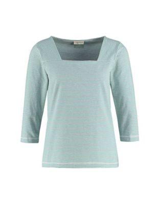 Deerberg Jersey-Shirt Agna kupfergrün-cremeweiß